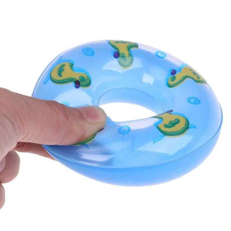 ברווז שחייה טבעת בובת הדפסת צעצועים מתנפח מצוף בית לשחק צעצוע בובת אביזרי מתנת צעצוע צבע אקראי משלוח בובת אבזר