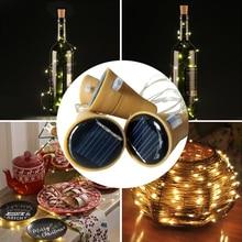 NEW SAFE LED Fairy Light String Christmas decor Solar Wine Bottle Stopper Insert Home Garden Decor D20