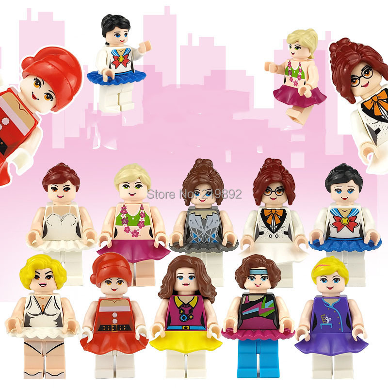 10pcs New Compatible LegoINGlys Girl Friends City Live Mini Figure Bricks Building Blocks learning Toys Diy Christmas Gift 1628 image