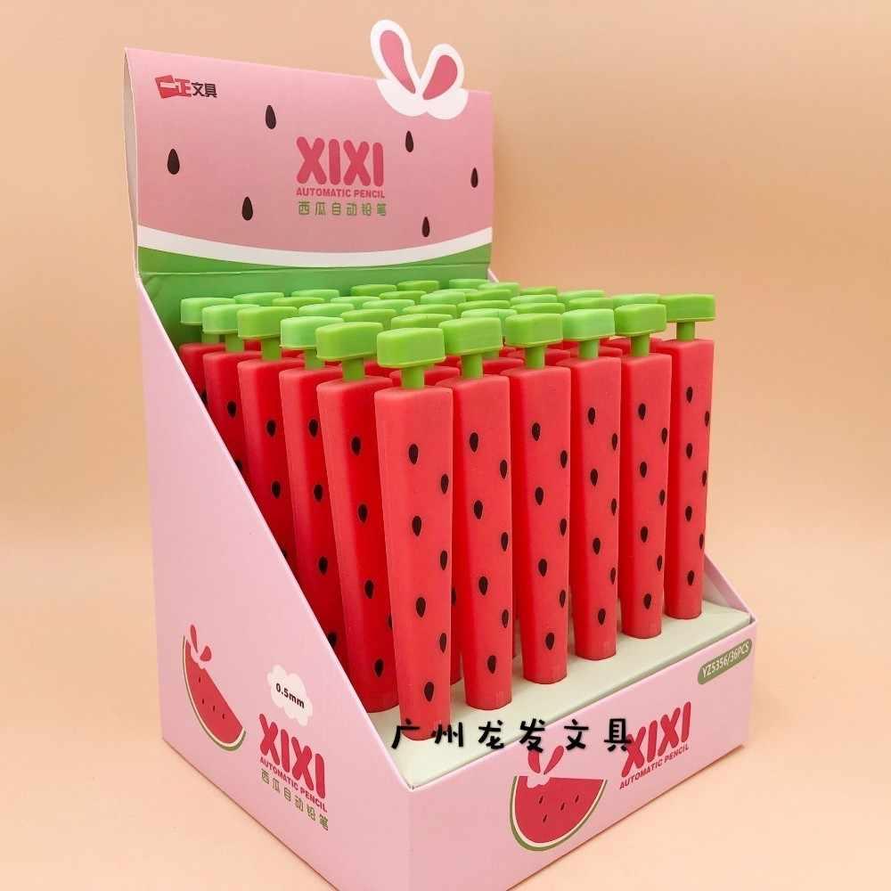 1 pçs lytwtw coreano artigos de papelaria kawaii bonito frutas melancia criativa escola material de escritório presente lápis mecânicos automático