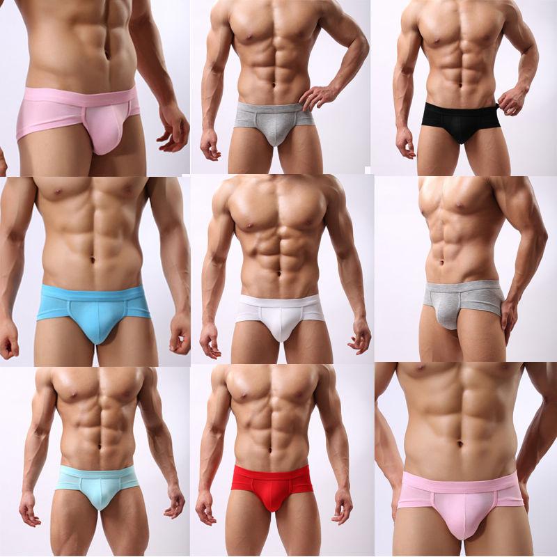 Men/'s Cotton Underwear Boxer Briefs Shorts Bamboo Fiber Bulge Pouch Underpants