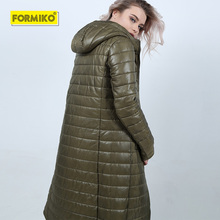 Formiko 2019 New Fashion Solid Slim Women Winter Hooded Coat Thick Down Parka Long Female Winter Down Cotton Jacket Outwear цены онлайн