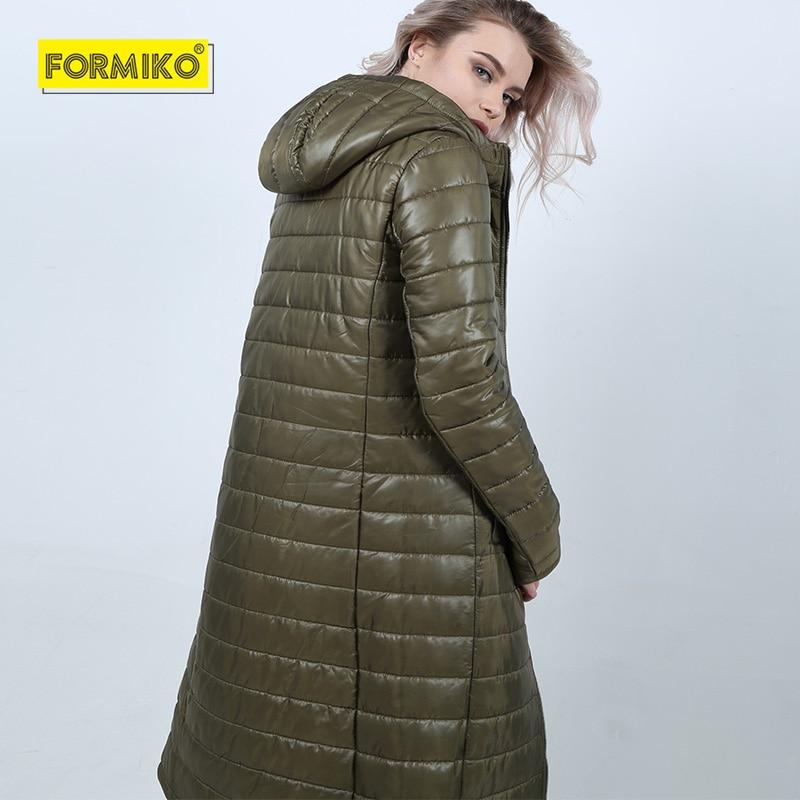 2019 Coton Bas Femmes Long Army D'hiver Solid Outwear Hiver Vers Nouvelle Femelle Capuchon Veste Parka Formiko Green À Le Mode Manteau Slim Épais 4qUOddXw