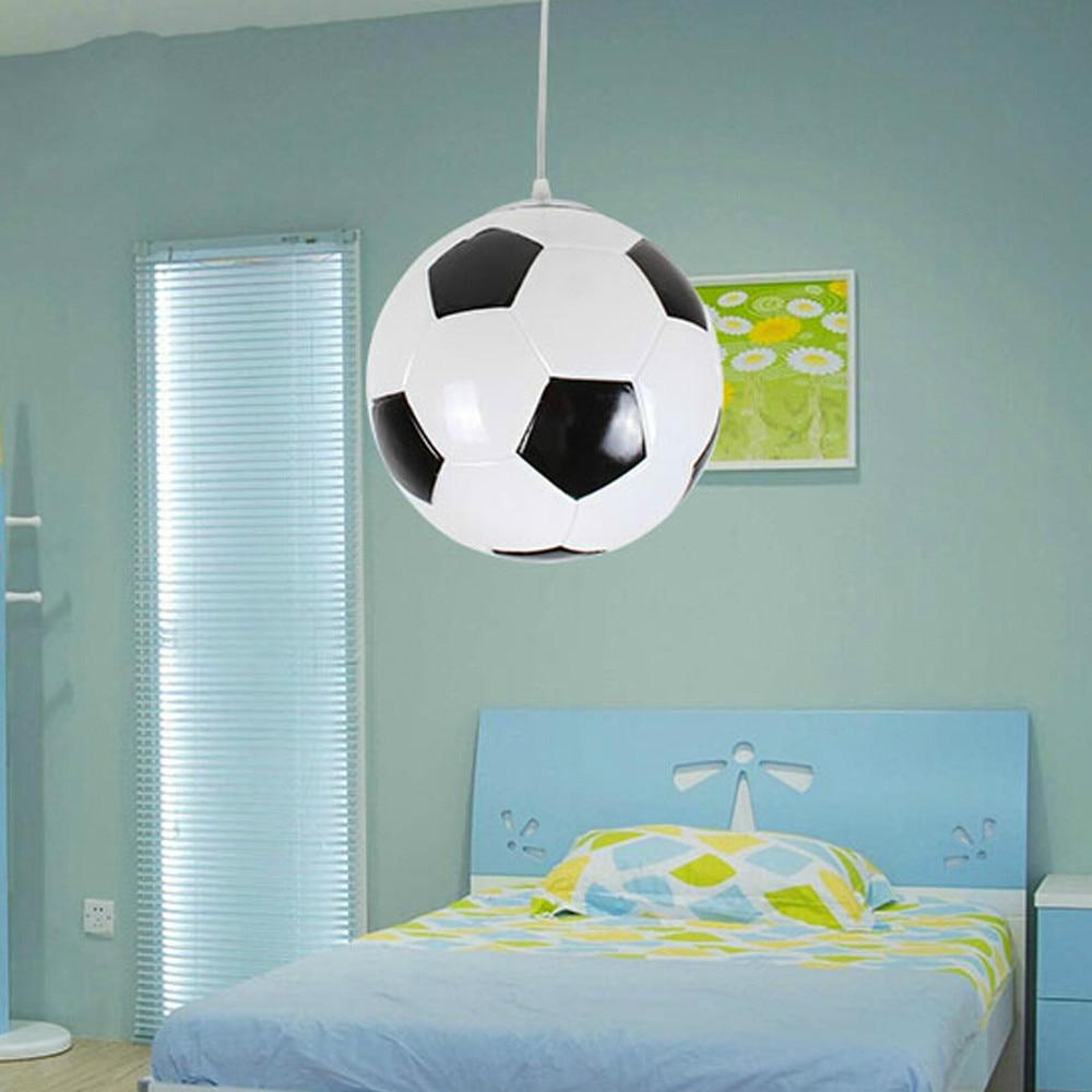 Us 34 93 30 Off Football Pendant Light For Creative Children Bedroom Lights Balcony Led Lamp Drop E27 Lampshade Dinner Room Foyer In