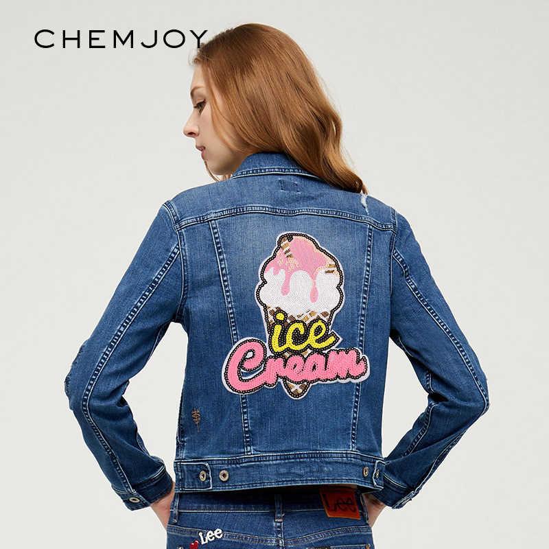 Kids Denim Jacket Ice Cream Sequin