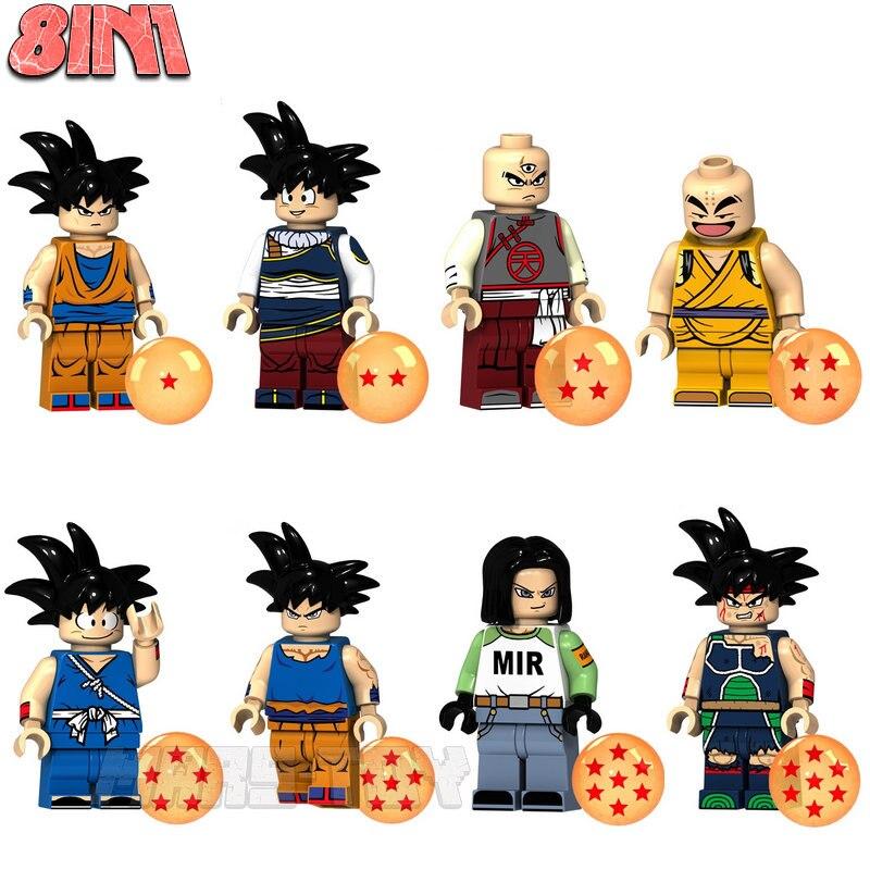 HOT Sale Dragon Ball Z Super Saiyan Goku Vegeta Building Blocks Compatible LegoINGly Dragon Ball Theme Action Figures Gifts guerre moderne lego