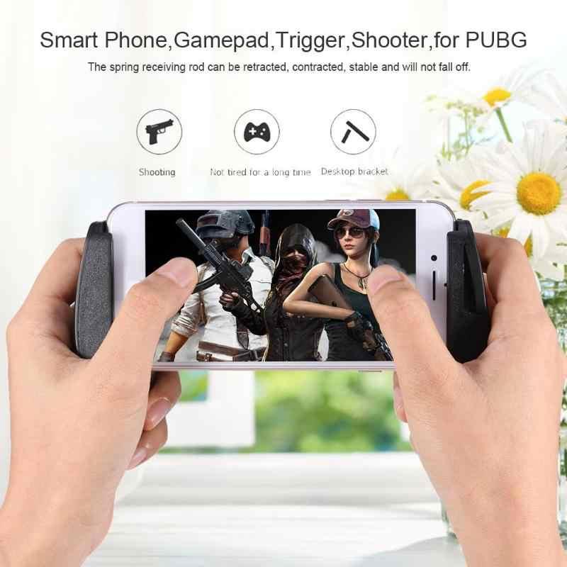 Smart Phone Gioco Gamepad Joystick Maniglia Porta di Gioco Trigger Shooter Controller per PUBG