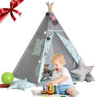Indoor kinder Zelt Spiel Haus Verpackung Größe 45*22*13 CM Weiß Wolle Ball Dekoration babys klettern Zelt Indoor Spielzimmer|Spielzelte|   -