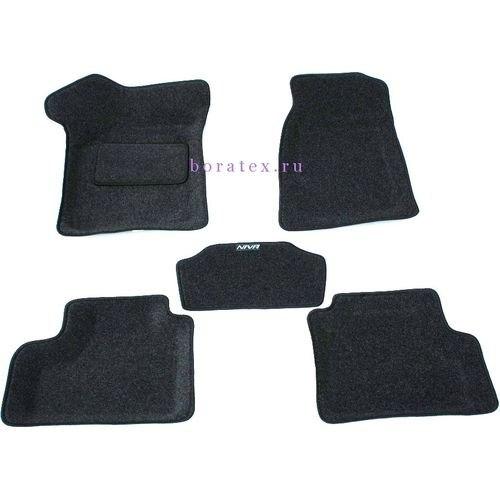 3D carpet BORATEX BRTX-1006 for Chevrolet Niva 2002-2009 dark gray фаркоп chevrolet niva chevrolet 2002