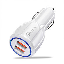 YWEWBJH Car USB Charger Quick Charge 3.0 2.0 Mobile Phone Charger 2 Port USB Fast Car Charger for iPhone Samsung Car Charger цена 2017