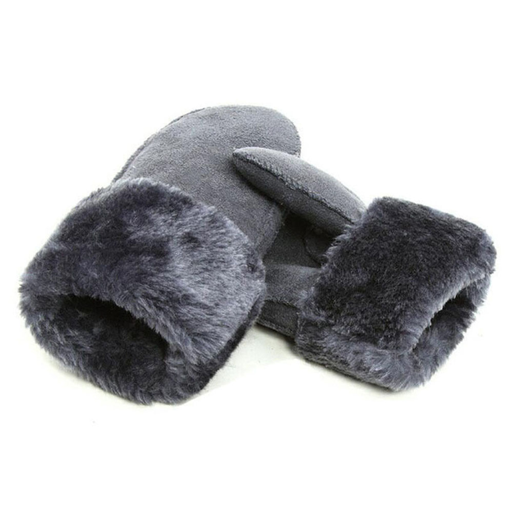 2019 женские модные зимние перчатки для девочек кожаные перчатки митенки из искусственного меха теплые однотонные Модные женские шерстяные перчатки Luvas De Inverno Женские перчатки      АлиЭкспресс