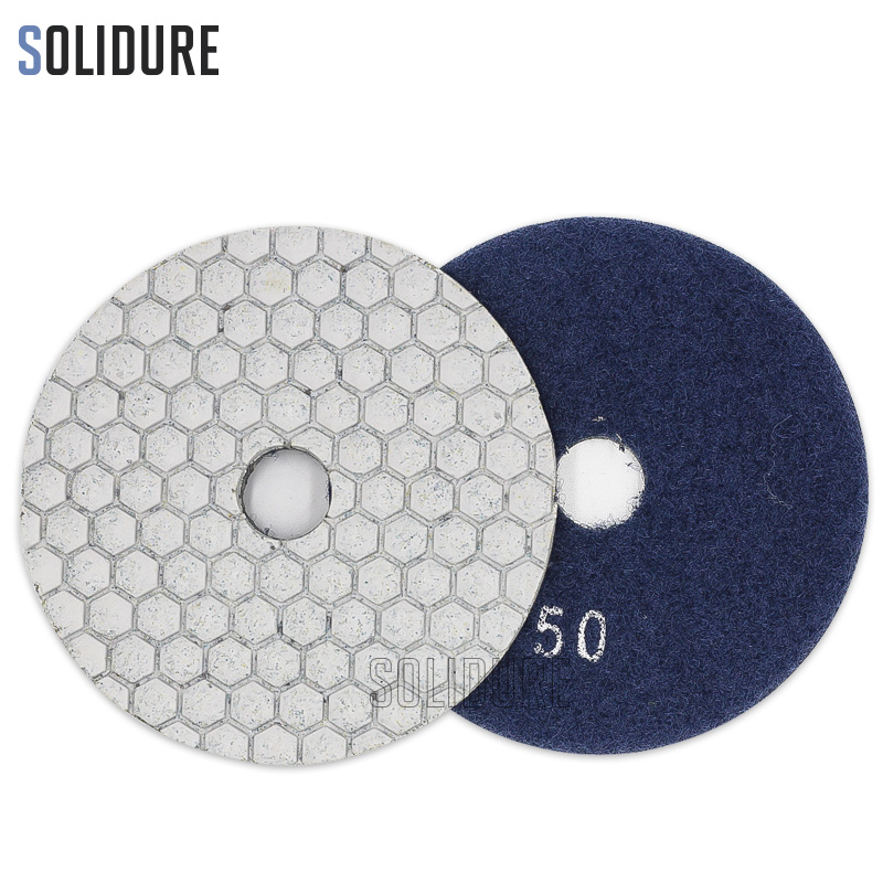 1pc Order By Grit 4 Inch 100mm Dry Diamond Polishing Pads For Dry Or Wet Polishing Granite,marble Engineered Stone And Concrete