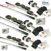 6 sets linear rail HGH20 linear guide any length+ linear bearing blocks+SFU1605 ball screw+3 BK12/BF12+3 DSG16H nut+3 Coupler