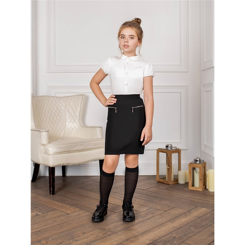 [Available with 10.11] Skirt knitted girls halloween white skull kindergarten princess grace plain red cotton twin bow top rwb star satin trim skirt girls outfit set nb 8y