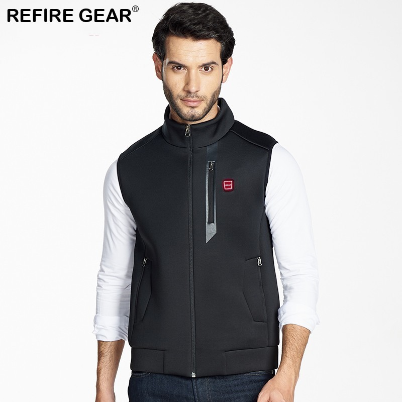Refire Gear Heated Vest Usb Heating Outdoor Vest Men Winter Clothes Men Tactical Vest Electric Heated Jacket Hiking Clothing Long Performance Life