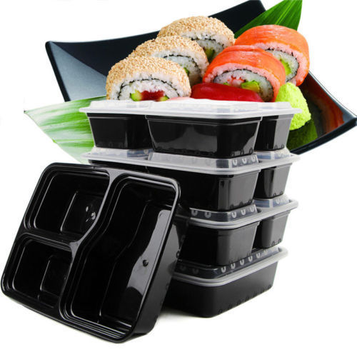 New Style 20pcs Set Disposable Lunch Box Food Fruit Container Storage Outdoor Bento Picnic Food Grade PP