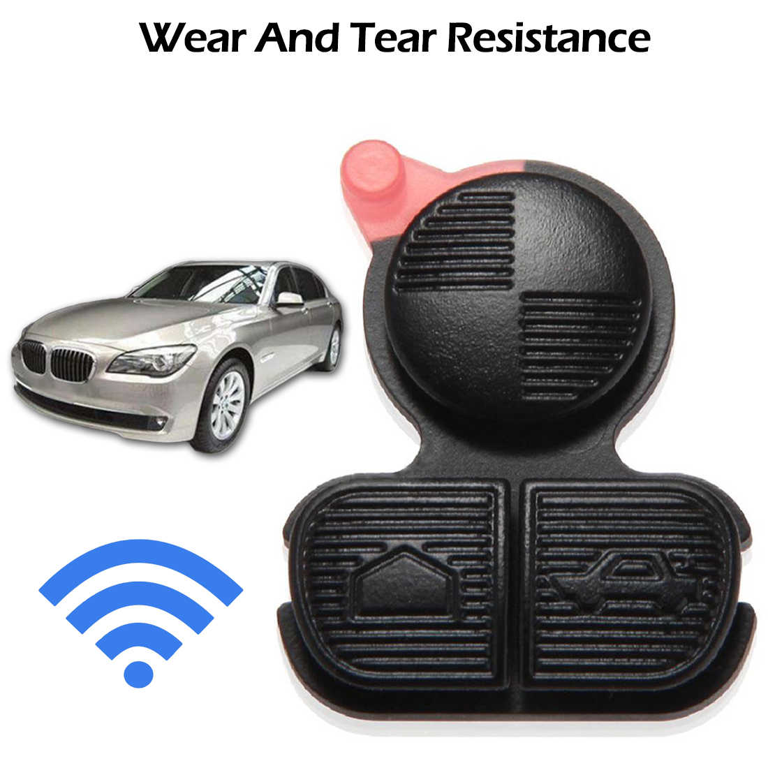 3 Buttons Silicone Car Key Cover Case Shell For BMW E46 Z3 E36 E38 E39 Replacement Entry Remote Key Fob Shell Case Housing