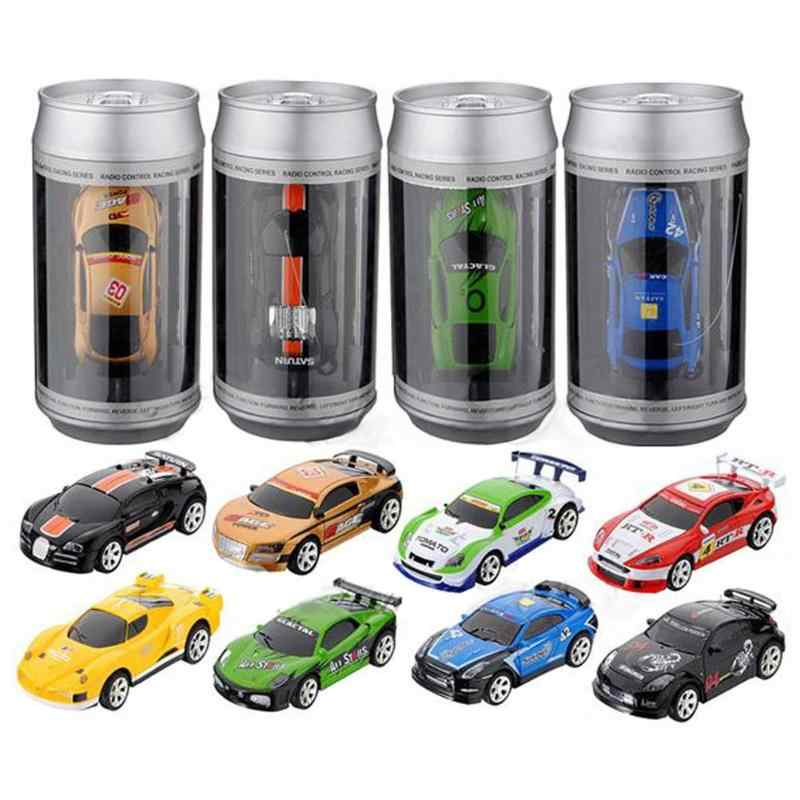 20KM/H Coke Can Mini RC Car Radio Remote Control Race Racing Car Toy For Kids Micro Racing Car 4 Frequencies Educational Gift