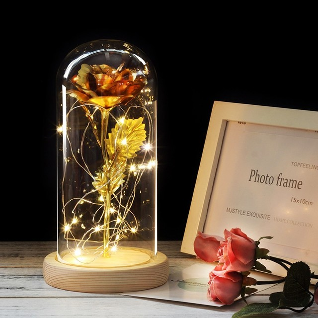 Eternity Rose in Glass Dome | LED Lamp 3