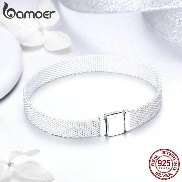 BAMOER Strand Bracelets Sterling Silver Metropolitan Style  3