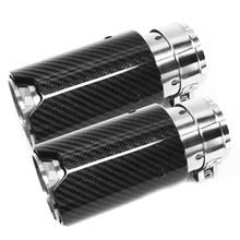 1 Pair Inlet 63mm Outlet 81mm Car Styling M Label Car Carbon Fiber Exhaust End Tips Pipes For BMW Carbon Exhaust Tip