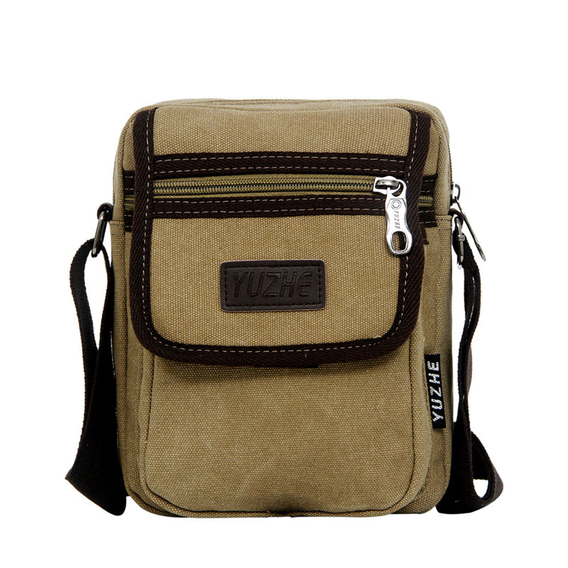 Travel Duffle High Quality Canvas Men's Bag Zipper Shoulder Bag Small For Man Multi Functional Male Travel Crossbody Sling Bag