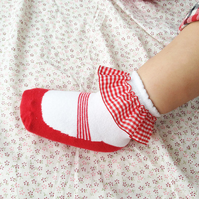 Lovely Red Lace Socks  6