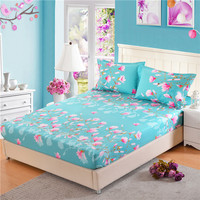 1pc 100%Polyester Encryption Cloth Fitted Sheet Printing Bedding Adjustable Elastic Band 200*220cm A Variety of Specifications64