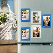 32g Picture Fridge Black Red Photo Magnetic Photo White Frames Wall Customization Blue DIY Rectangle(China)