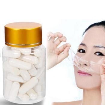 Collagen Active Peptide Crystal Mask Powder Hydrating Transparent Jelly Mask Anti Aging Rejuvenation Shrink Pore Capsule Mask