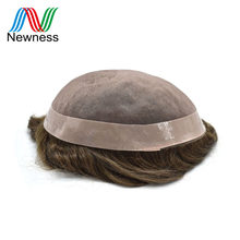 Newness Hair Men Toupee Men Hair Wig Indian Remy Human Hair System For Males 100% Natural Straight Hair Replacement(China)