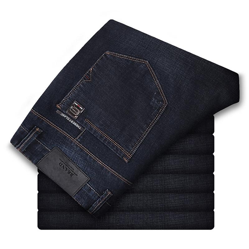 186-200 Cm Große Männer 120 Cm Lange Länge Herbst Winter Männer Slim Jeans Männer Der Version Stretch Koreanische Hohe Taille L36 L34 Jeans Männlichen