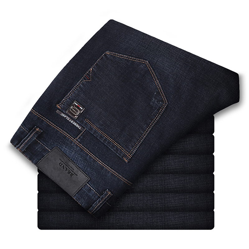 186-200cm Tall Men 120cm Long Length Autumn Winter Men's Slim   Jeans   Men's Version Stretch Korean High Waist L36 L34   Jeans   Male
