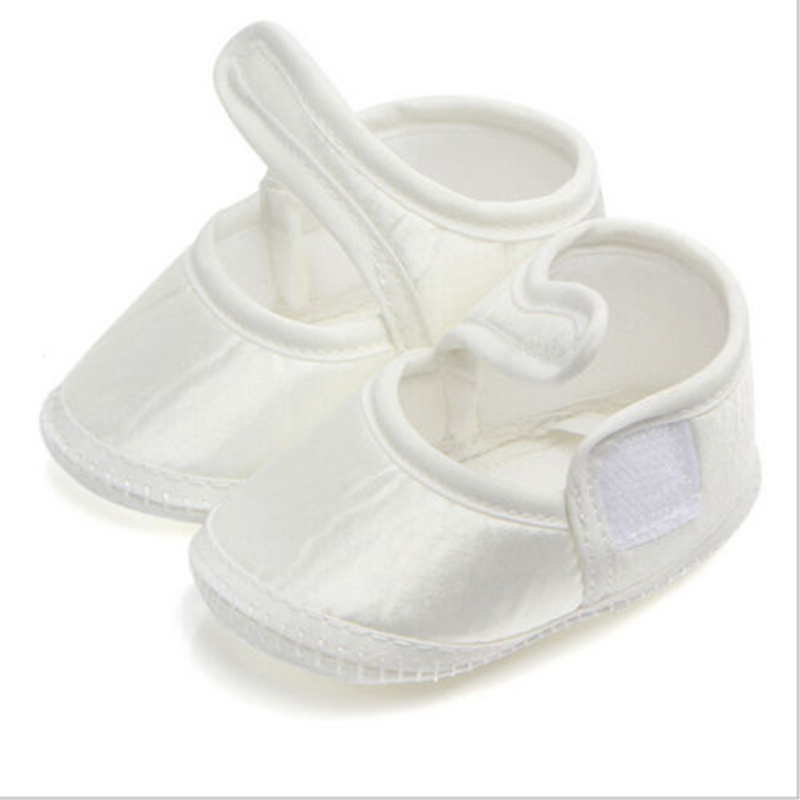 Solid White Baby Girls Soft Sole Cotton Crib Shoes Casual Babies Anti-slip Sneaker Prewalker 0-6M First Walkers