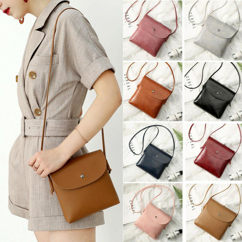 Women Handbags Small Leather Crossbody Bag Purse Vintage Cell Phone String Travel Bag