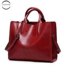Women Leather Bags Famous Brand Handbags Casual Female Bag Zipper Trunk Tote Ladies Designer Shoulder Bag Large Messenger Bag