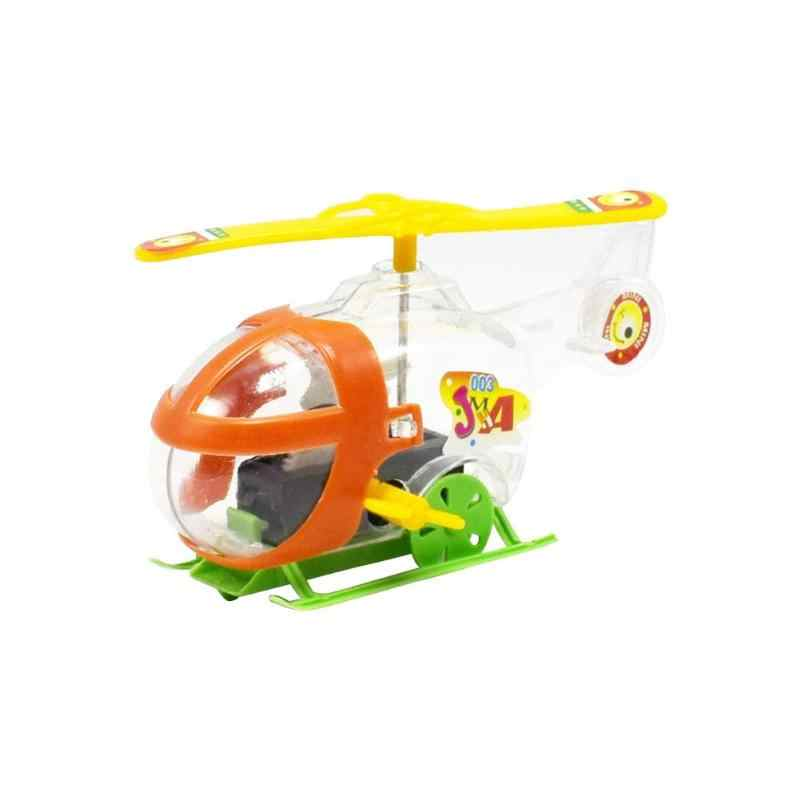 Plastic Helicopter Toy Mini Transparent Winding Chain Plane Montessori Educational Toys for Kids gift