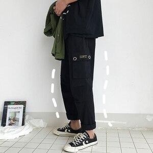 Image 3 - Мужские шаровары с принтом, модные эластичные хлопковые повседневные брюки в стиле хип хоп, спортивные штаны для бега, большие размеры, M 5XL, 2019