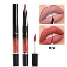 14 Color Double-end Lipsticks pencil Cosmetics Makeup Lip Gloss Long Lasting Waterproof Easy to Wear Matte Lipstick lips liner