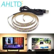 1X DC 5V 50CM 1M 2M 3M 4M 5M LED USB Cable Power strip light SMD 3528 Christmas desk Decor lamp tape For TV Background Lighting стоимость