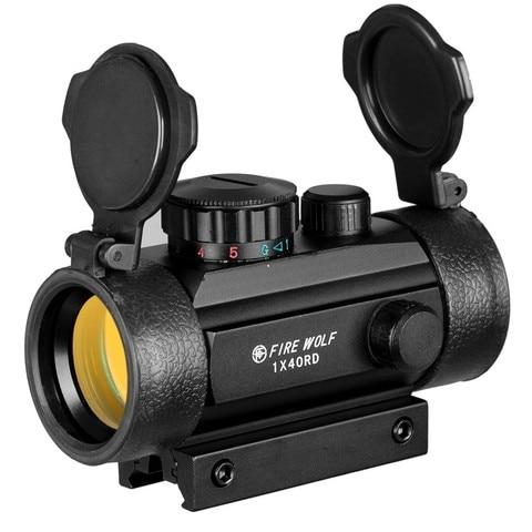 1x40 riflescopes caca tatico holografico vermelho ponto