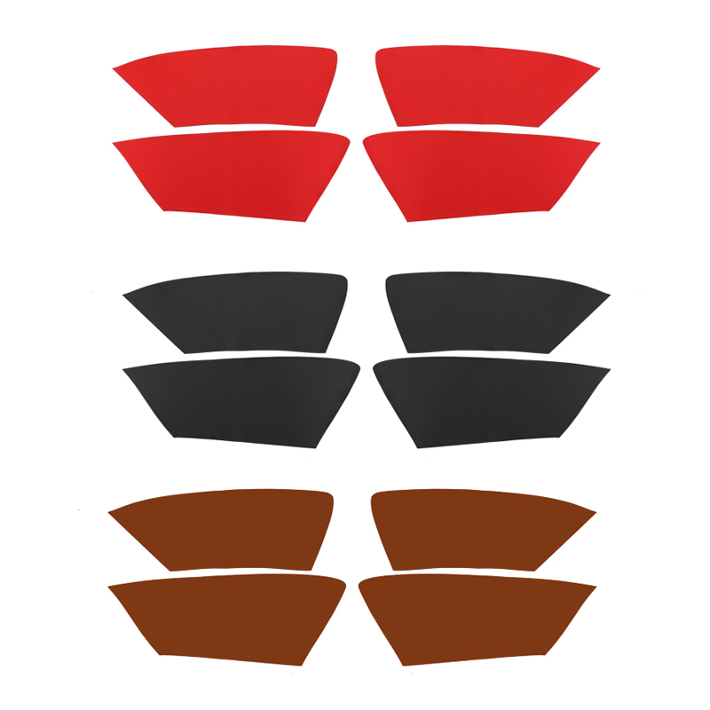 Image 2 - 4pcs Microfiber Leather Interior Car Styling Door Panel Covers Trim For Audi A4 2009 2010 2011 2012 2013 2014 2015 2016-in Interior Mouldings from Automobiles & Motorcycles