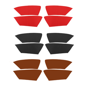 Image 2 - 4pcs Microfiber Leather Interior Car Styling Door Panel Covers Trim For Audi A4 2009 2010 2011 2012 2013 2014 2015 2016