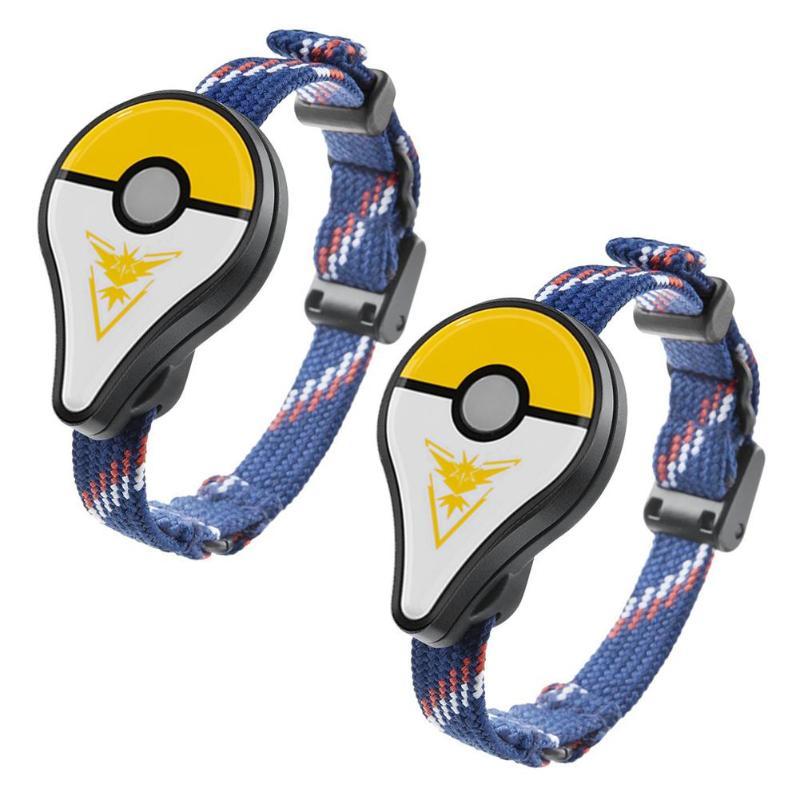 2 pièces Bracelet Bracelet Bluetooth POKEMON GO Bracelet interactif motif jaune et blanc accessoire pour SmartPhone