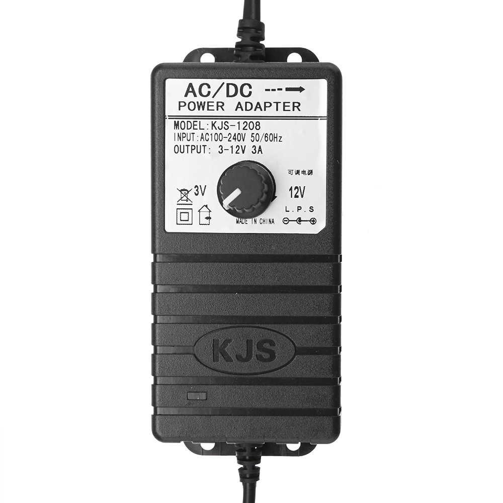 Штепсельная вилка США/штепсельная вилка ЕС 3 V-12 V 3A/3-24 V 2A адаптер питания Регулируемое напряжение AC/DC адаптер импульсный источник питания