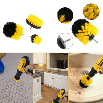 2019 Newest Hot Set of 3 Electric Drill Clean Brush Scrub Brush Powered Clean Tire Attachments image