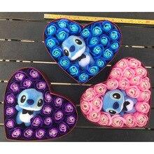 Из искусственного плюша тематика «Лило и Стич» игрушки с букеты Стич Мыло Цветы День Святого Валентина деревенский растительный декор для свадьбы пользу