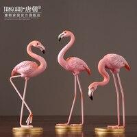 Home Decor Decoration Accessories Original Flamingo Resin Living Room Wine TV Cabinet Ornaments Figurine
