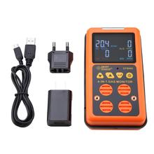 SMART SENSOR ST8900 Multi gas Detector for CO, O2, H2S, LEL Rechargeable Gas Meter Gas Analyzer