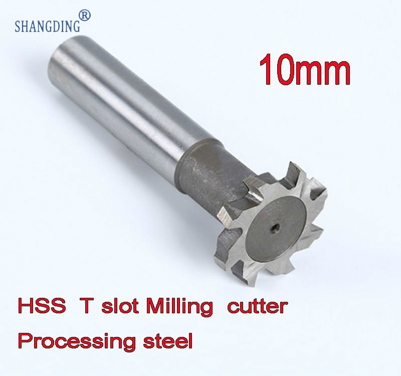 10mm* 1.5/2/2.5/3/4/5/ Petiole 6mm Exceed Hard Alloy 6542 High Speed Steel T Groove Milling Cutter Directly Handle